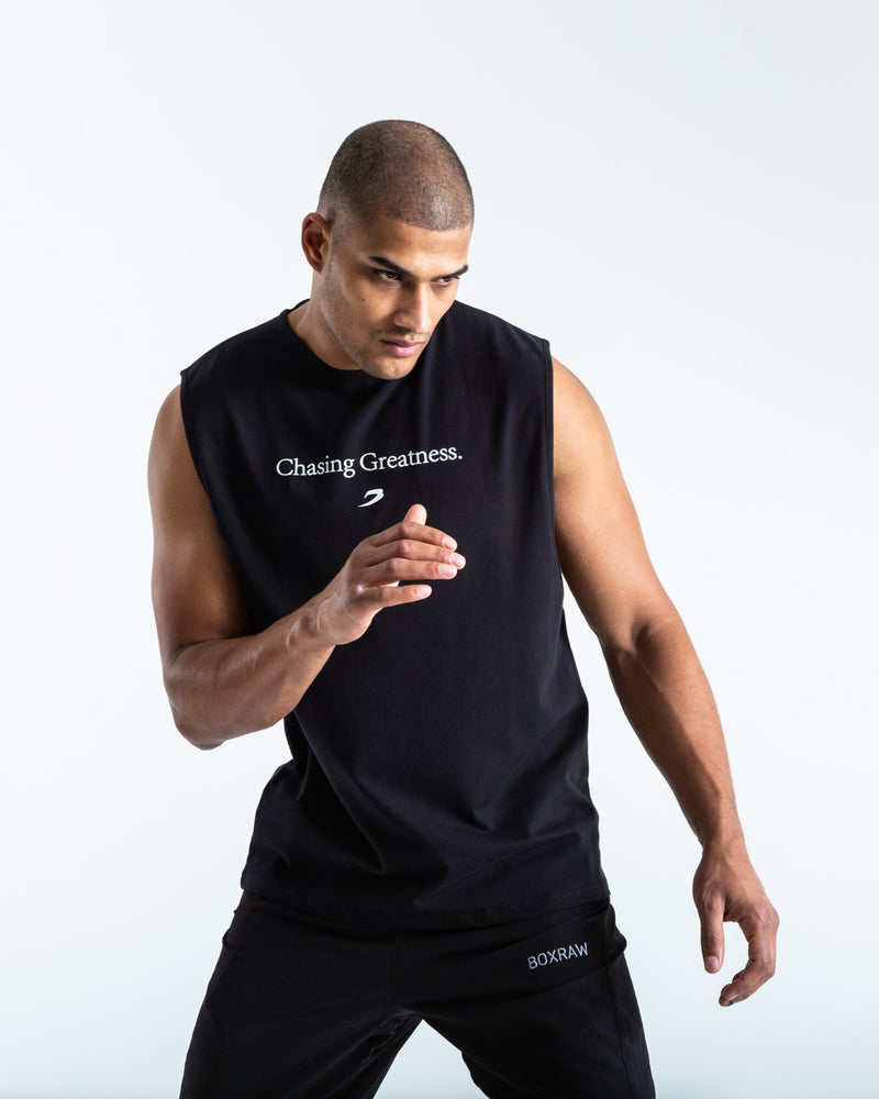 BOXRAW Chasing Greatness Muscle Tank - Black