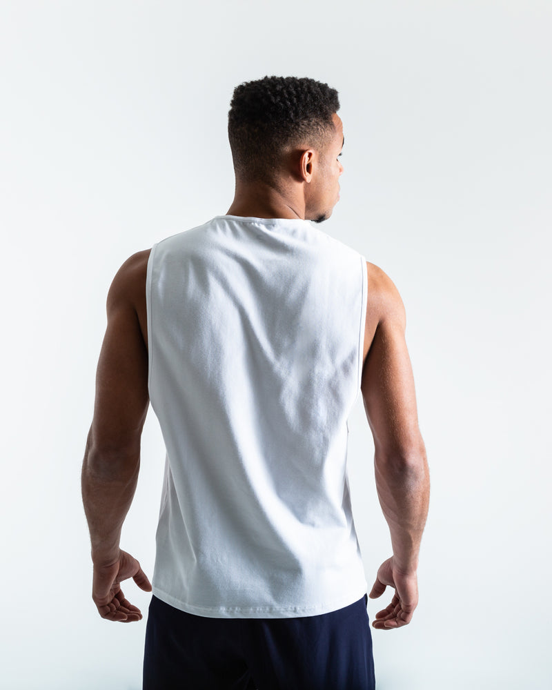 BOXRAW Chasing Greatness Muscle Tank - White
