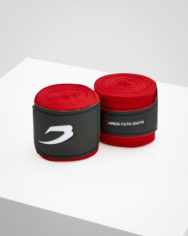 4.5M Hand Wraps - Neon Red - BOXRAW