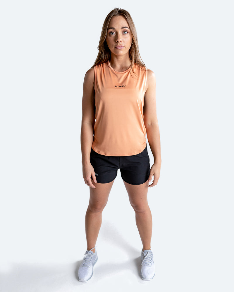 Lucia Muscle Tank - Peach - BOXRAW