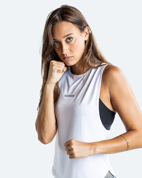 Lucia Muscle Tank - White - BOXRAW