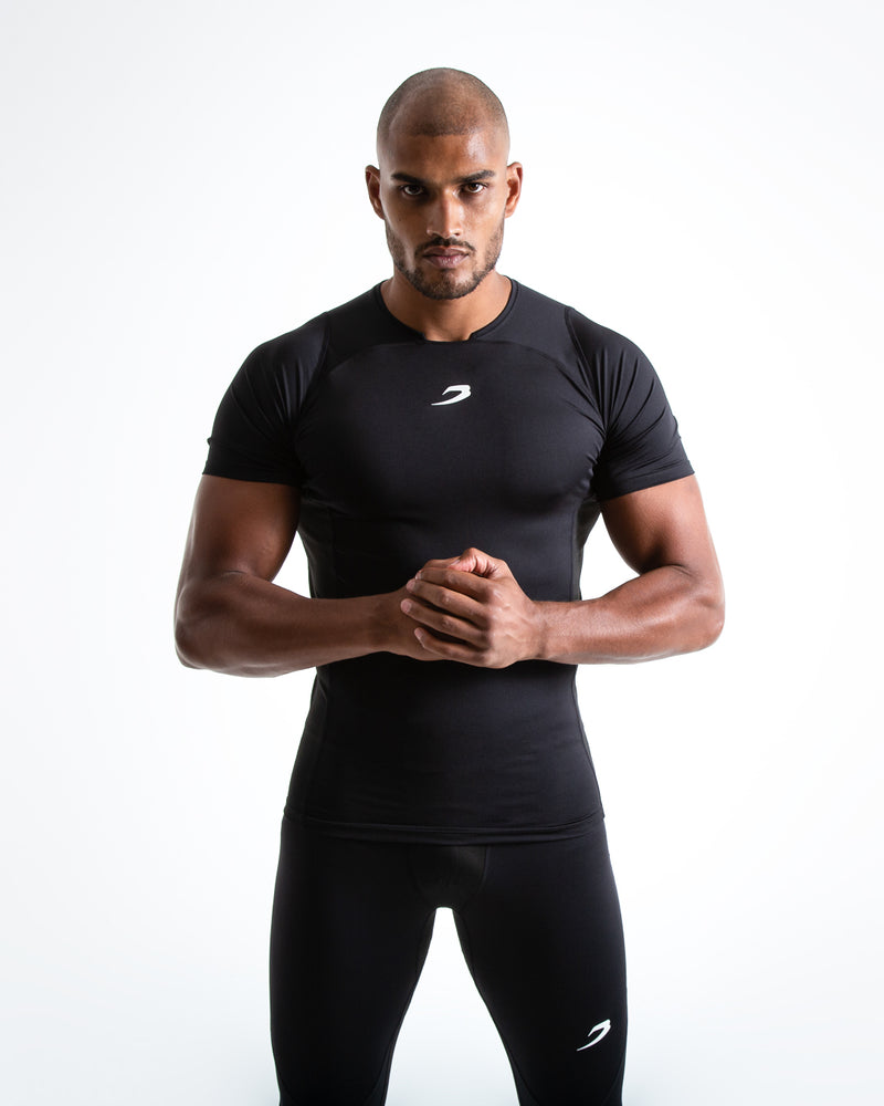 Saddler Compression T-Shirt - Black