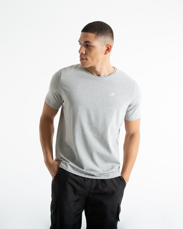 Strike T-Shirt - Grey Marl - BOXRAW