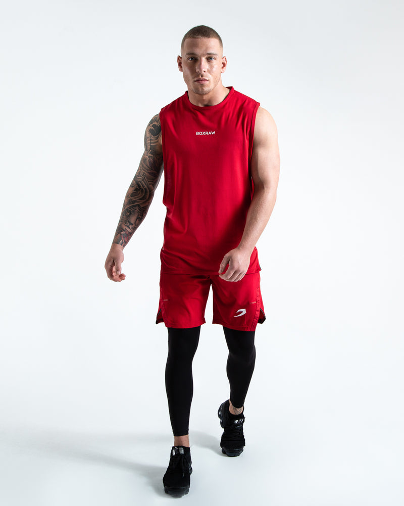 BOXRAW SMRT-TEC Muscle Tank - Red