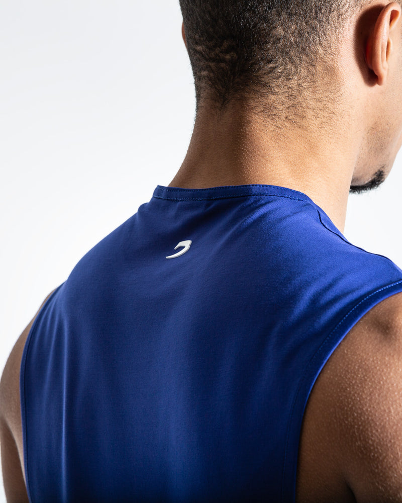 BOXRAW SMRT-TEC Muscle Tank - Blue