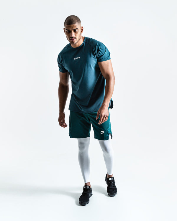 Pep Shorts (2-In-1 Training Tights)  - Green/White