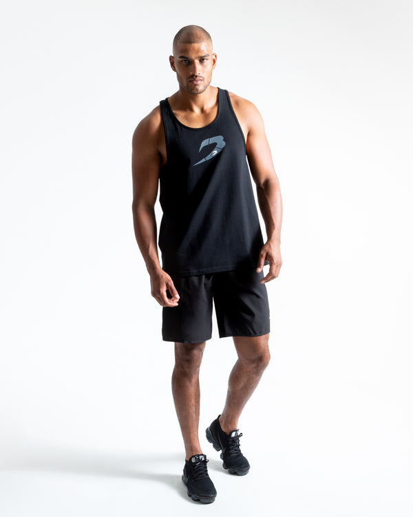 BOXRAW Glitch Stringer Tank - Black