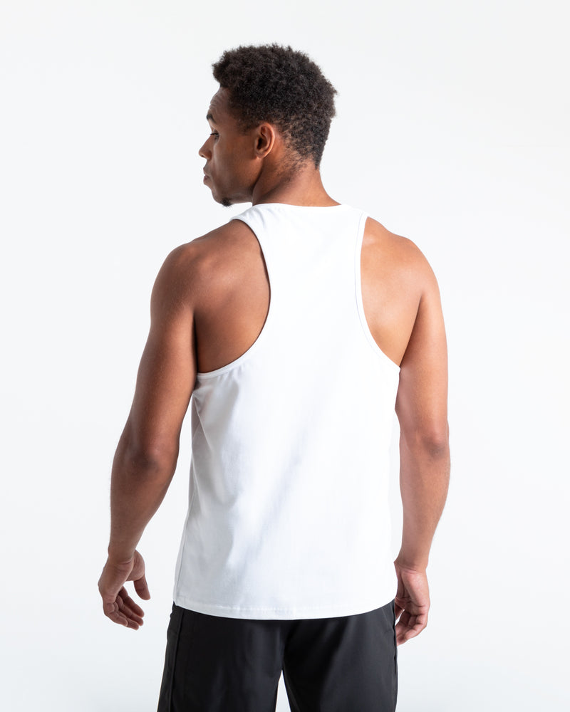 BOXRAW Glitch Stringer Tank - White