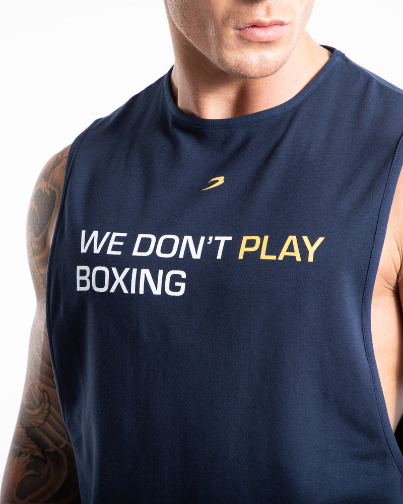 We Don't Play Boxing Muscle Tank - Navy