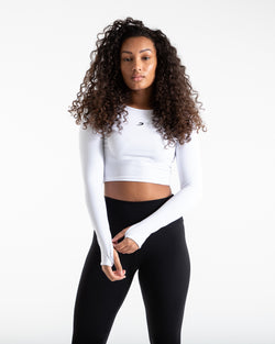 Crop Top Long Sleeve - White