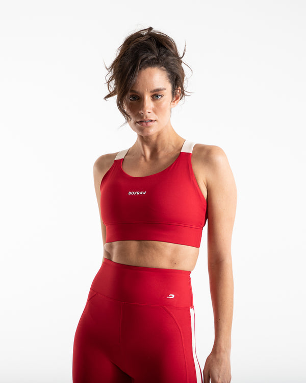 Alicia Sports Bra - Red