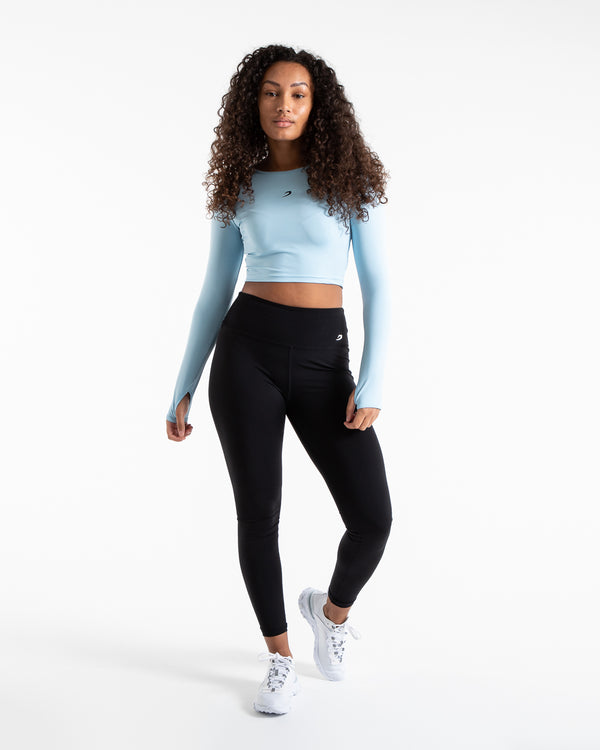 Crop Top Long Sleeve - Baby Blue