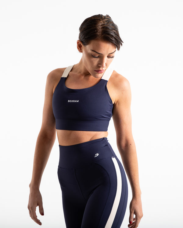Alicia Sports Bra - Navy