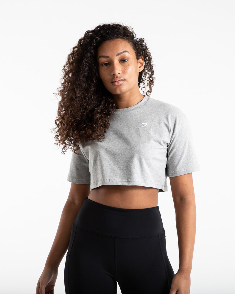 Cropped BOXRAW Strike T-Shirt - Grey