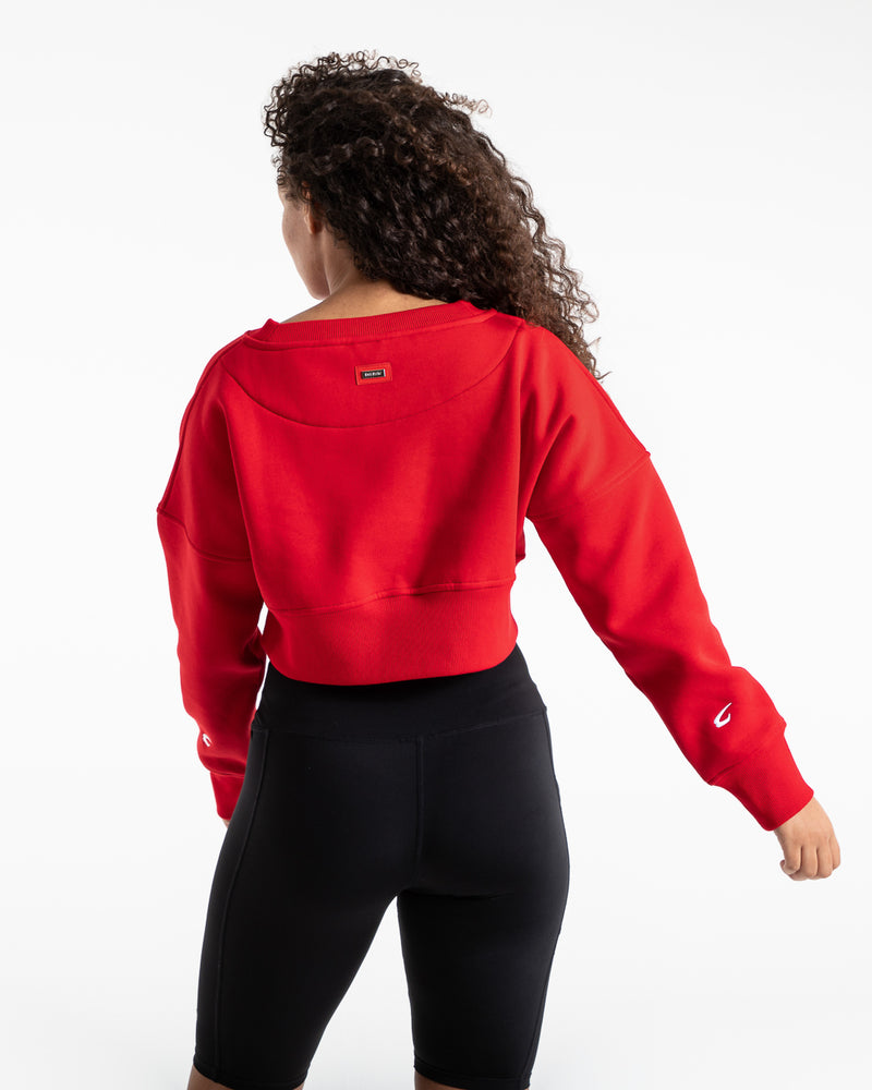 Johnson Cropped Sweatshirt - Red
