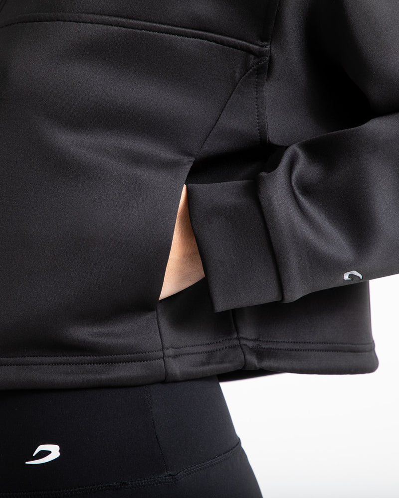 Del Valle 1/2 Zip Neoprene Top - Black