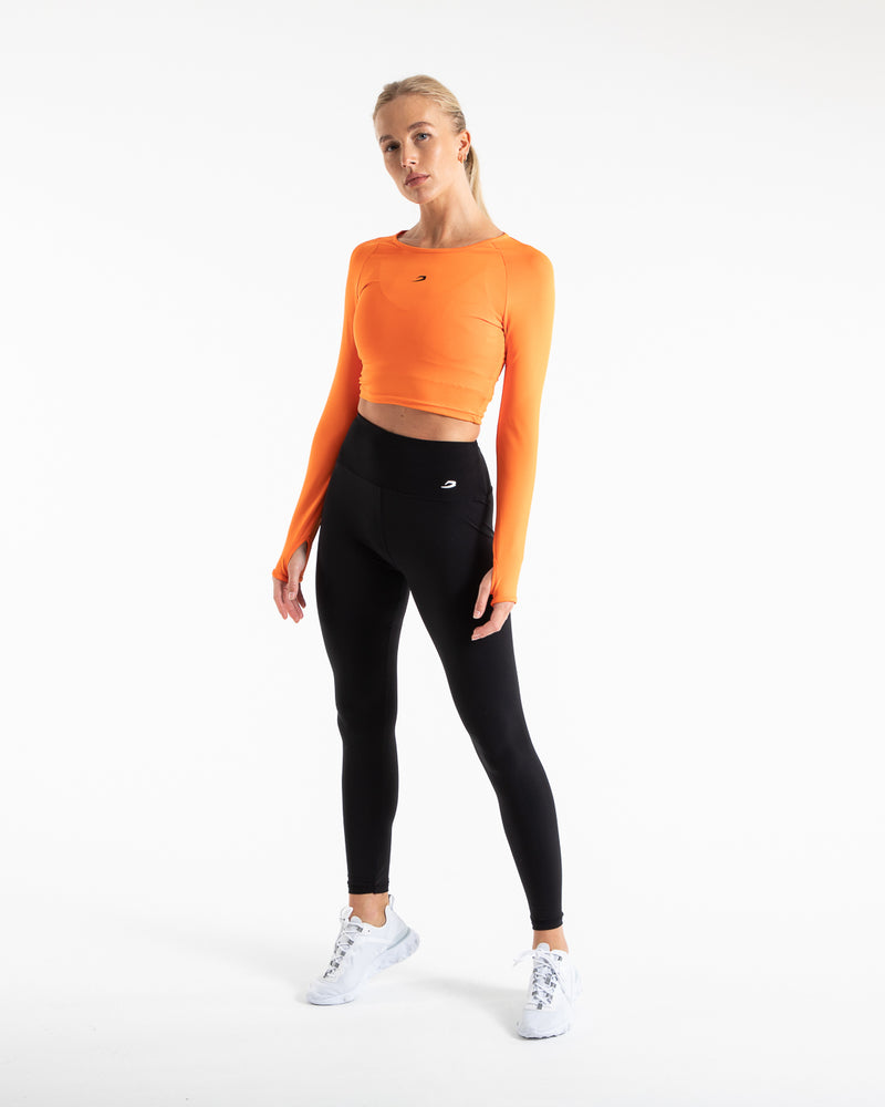 Crop Top Long Sleeve - Orange