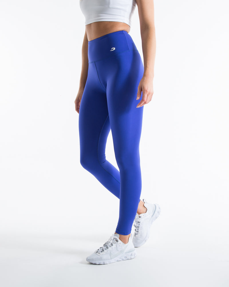 Women's High Waist Leggings - Electric Blue - BOXRAW