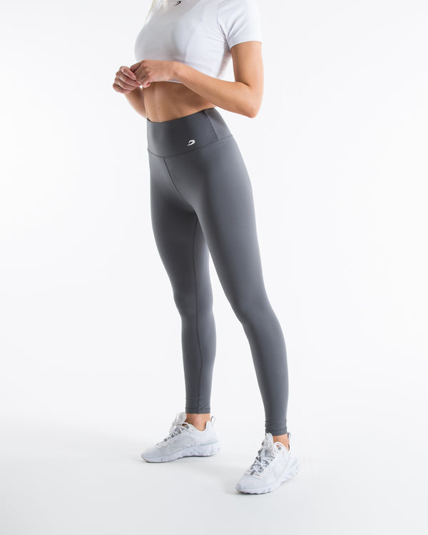Women's High Waist Leggings - Charcoal - BOXRAW