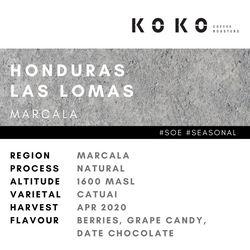 SOE / HONDURAS LAS LOMAS (NATURAL 200g) SEASONAL