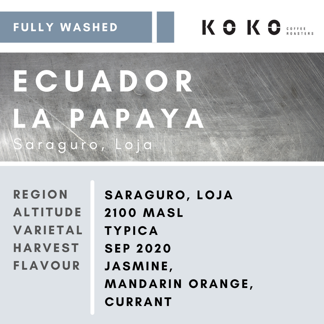 Ecaudor La Papaya (Fully Washed) 200g