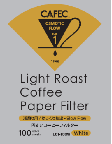 淺焙專用濾紙 Light Roast Coffee Paper Filter ( 100 PCS )