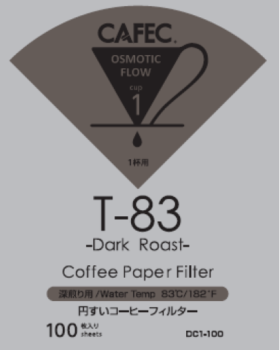 深焙專用濾紙 T-83Dark Roast Coffee Paper Filter ( 100 PCS )