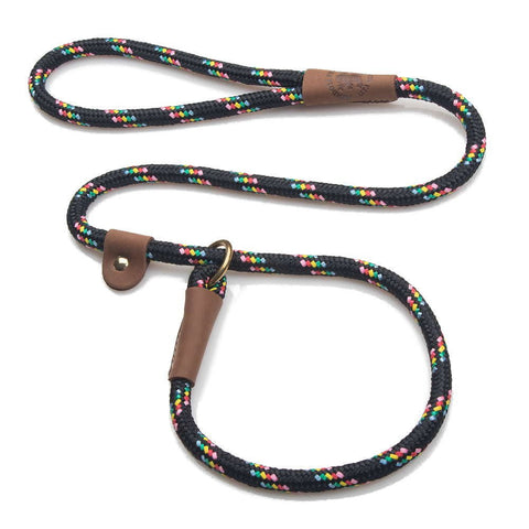 Mendota Slip Leash Black Confetti