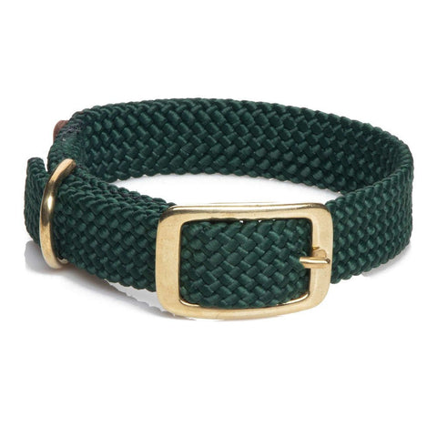 Mendota Double Braided Collar Hunter Green