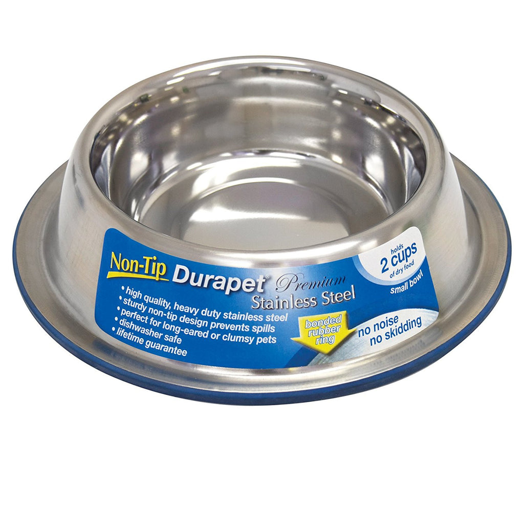 Durapet No Tip stainless steel Bowl