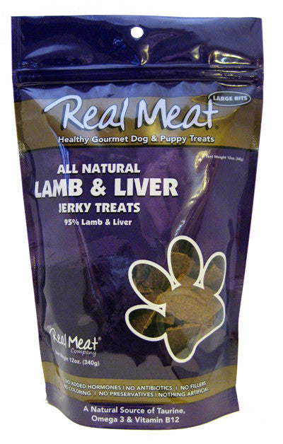 Real Meat All Natural Lamb & Liver Jerky Treats