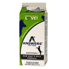 Answers Raw Goats Milk
