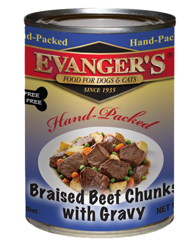 Evangers Hand packed Braised Beef Chunks