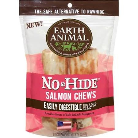 Earth Animal No-Hide Dog Chews Salmon