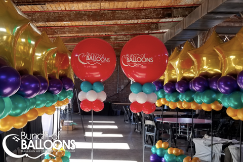 Mardi Gras Party Balloon Columns