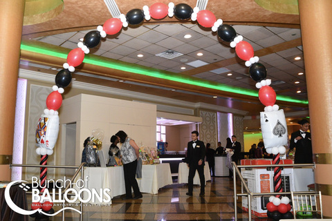 Casino Balloon Arch