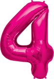 Giant Number 4 Balloon