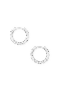 Kendra Scott - Maggie Huggie Earrings Rhodium Silver