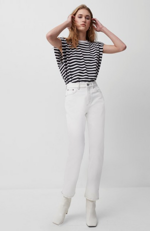 French Connection - Shoulder Pad Stripe Tee