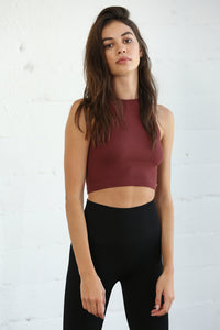 Seamless Ribbed Crew Neck Brami