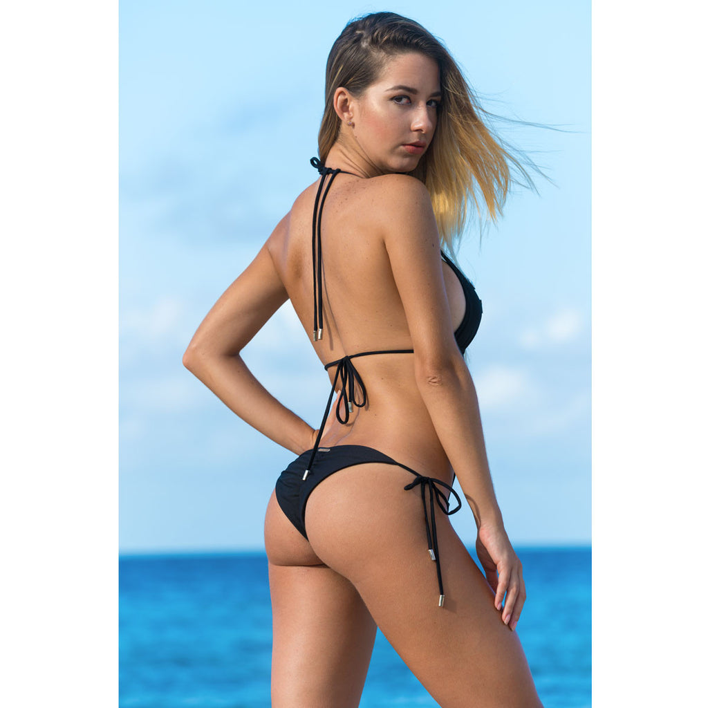 Swimwear - Black One Piece Monokini Swimsuit -  Thalassa Boom Resort Wear