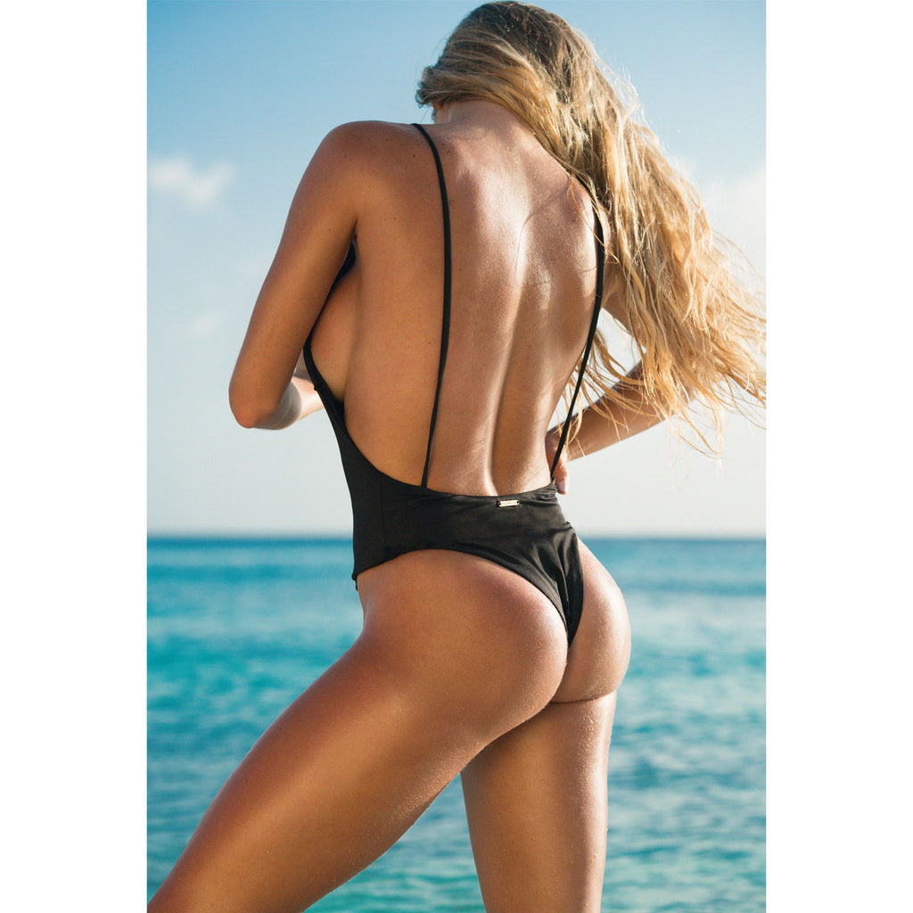 Black One Piece Swimsuit -  Thalassa Boom
