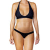 Thalassa Boom Resort Wear, Black Solid Cheeky Bikini Bottom, Designer swimwear