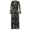 Kimono, Long Kimono in Black Beaded Lace, Thalassa Boom Resort Wear