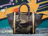 Bags - Bag in Cheetah & Gold & Camouflage Print -  Thalassa Boom - 3