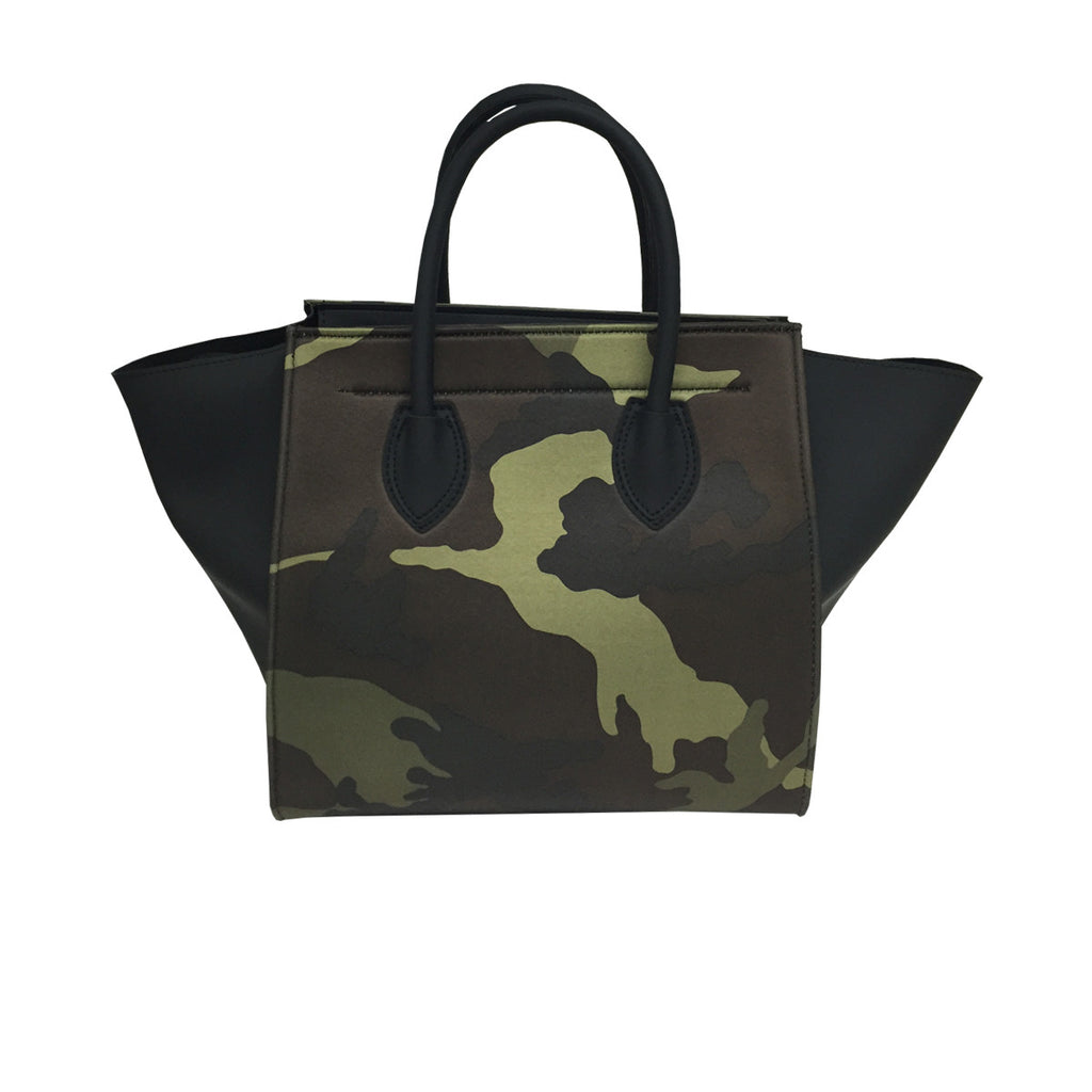 Handbags, Bag with Spikes & Camouflage Print, Thalassa Boom Resort Wear