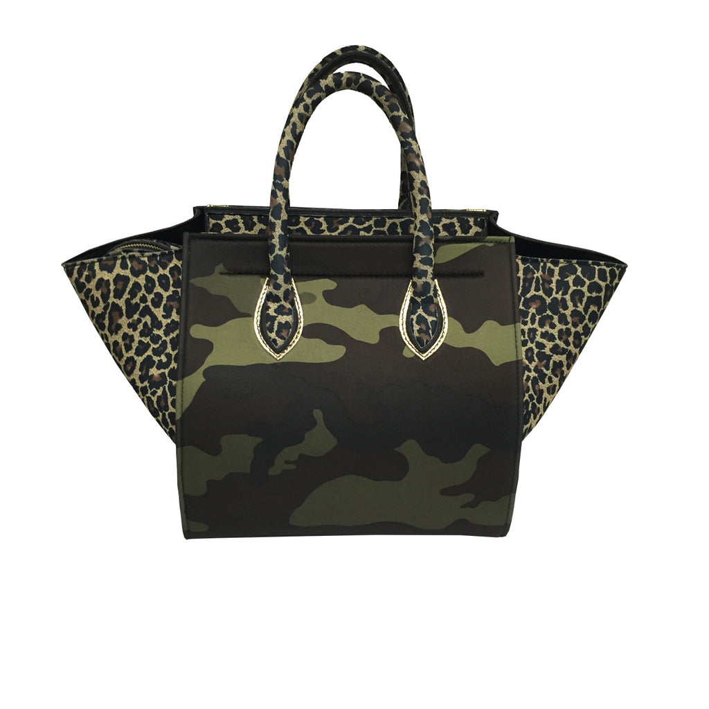 Bags - Bag in Cheetah & Gold & Camouflage Print -  Thalassa Boom - 2