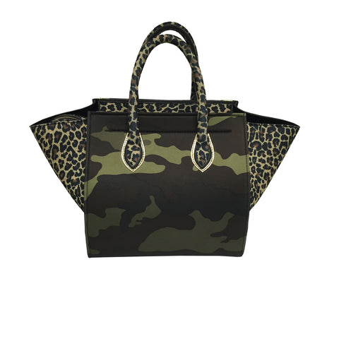 Bag in Cheetah & Gold & Camouflage Print -  Thalassa Boom
