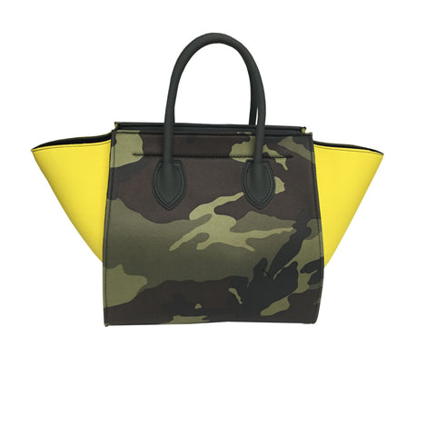 Bag in Yellow & Camouflage Print -  Thalassa Boom