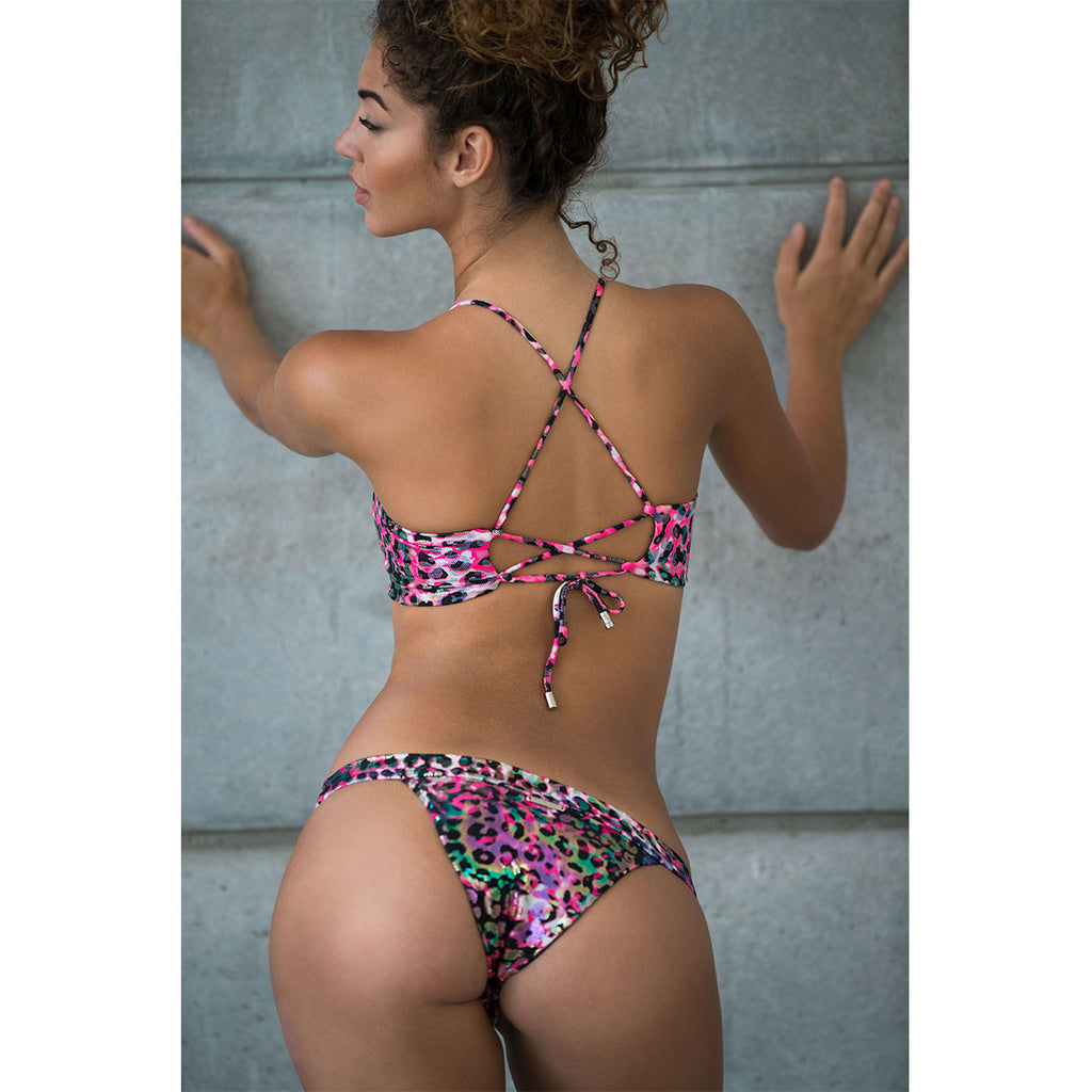 Animal Pink Cheeky Bikini Bottom -  Thalassa Boom